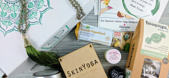 BuddhiBox Yoga Subscription Box Review + Coupon – December 2016