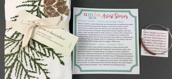 Umba Box November 2016 Subscription Box Review