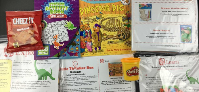 November 2016 Little Thinker Box Subscription Box Review