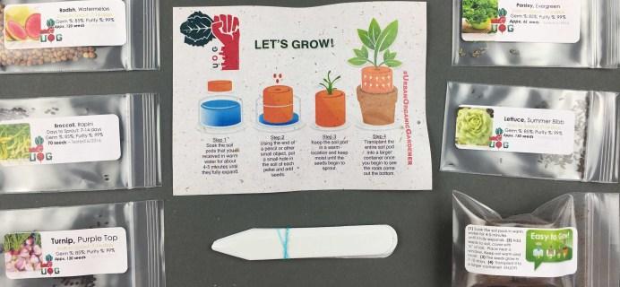Urban Organic Gardener December 2016 Subscription Box Review + Coupon
