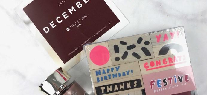 POPSUGAR Must Have Mini December 2016 Subscription Box Review