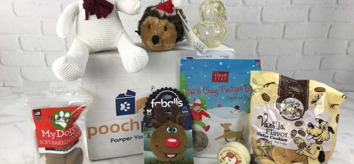 Pooch Perks December 2016 Subscription Box Review + Coupon!