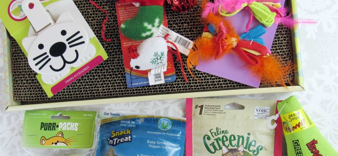 Purr-Packs December 2016 Subscription Review & Coupon – Fun and Love Size!