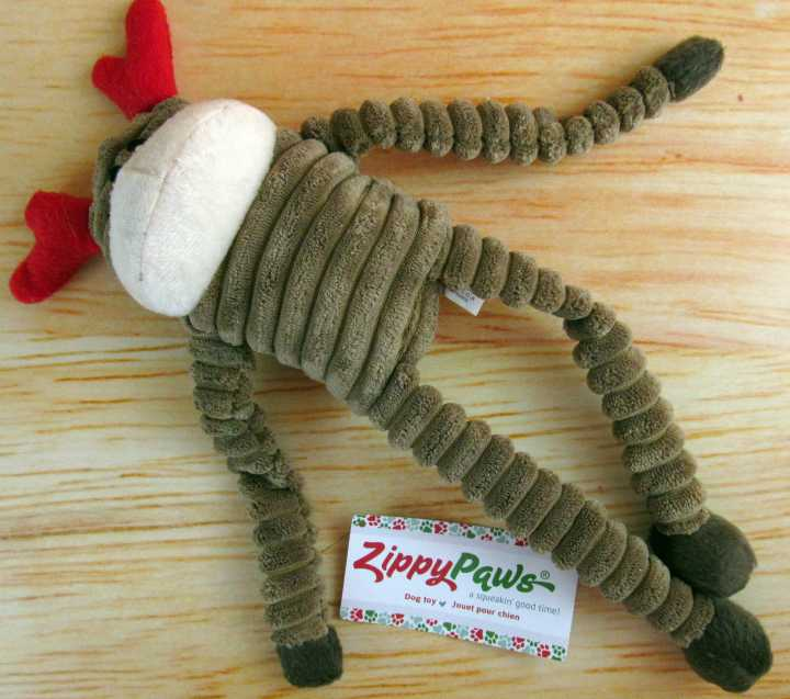 Zippy Paws Holiday Crinkle Reindeer Toy