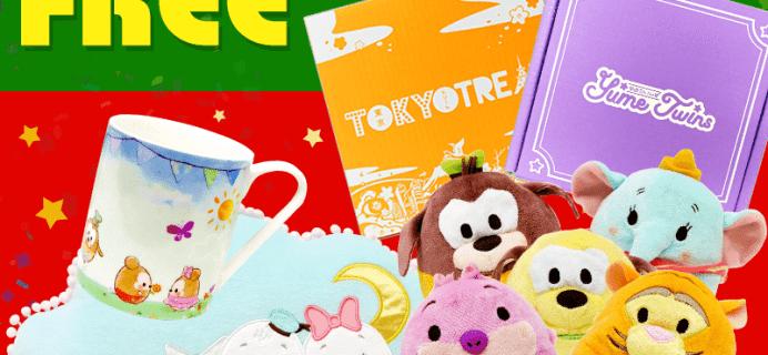 Tokyo Treat & Yume Twins Coupon: Disney Ufufy Bonus Items + $3 Off Your First Box!