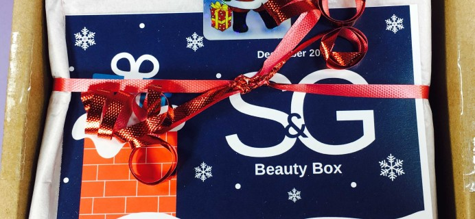 S&G Beauty Box December 2016 Subscription Box Review + Coupon