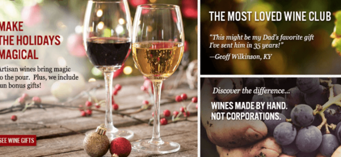 California Wine Club Holiday Deals: 15% Off Prepaid Memberships, Free Shipping, or Free Gifts!