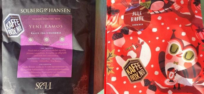 KaffeBox December 2016 Subscription Box Review