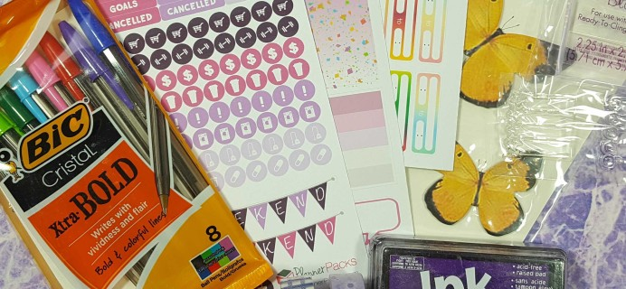 Planner Packs December 2016 Subscription Box Review & Coupon