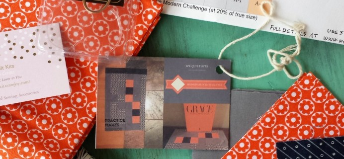 We Quilt Kit Mini Subscription Box Review & Coupon – December 2016