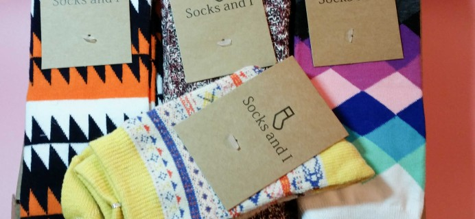 Socks and I January 2017 Subscription Box Review