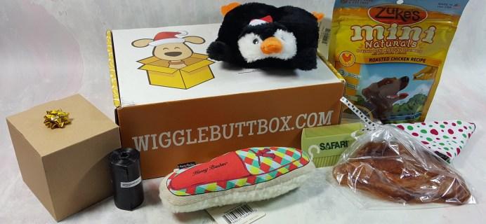 Wigglebutt Box Dog Subscription Box Review – December 2016