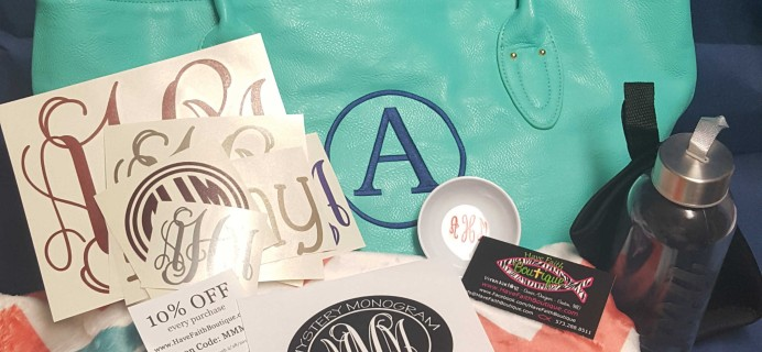 Mystery Monogram Monthly January 2017 Subscription Review + Coupon!