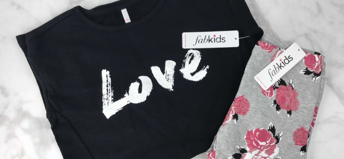 Fabkids January 2017 Subscription Review & Coupon – Girls