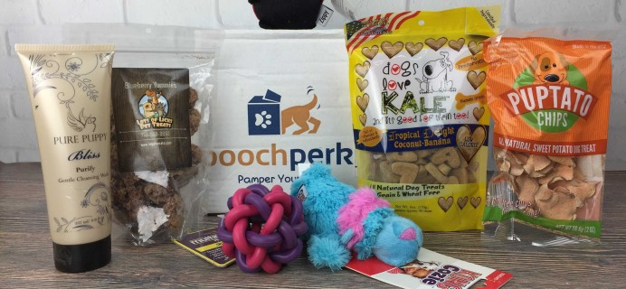 Pooch Perks January 2017 Subscription Box Review + Coupon!