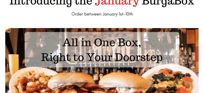 BurgaBox January 2017 Menu Available Now + Coupon!