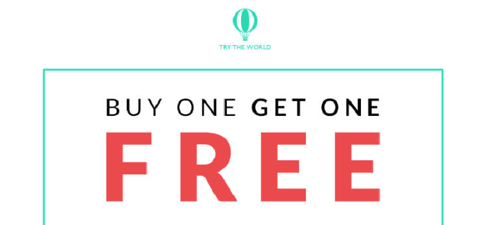 Try The World Box Freebie Deal: Buy One Get One!