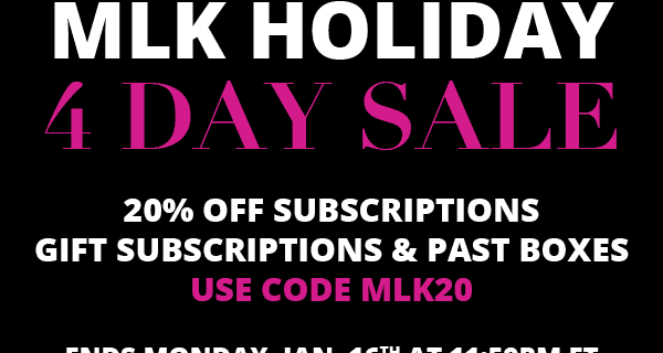 EXTENDED: Cocotique Sale – 20% off all Subscriptions