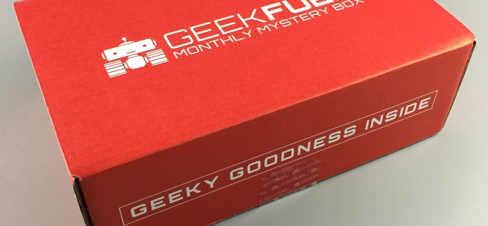 Geek Fuel February 2017 Subscription Box Review + Coupon!
