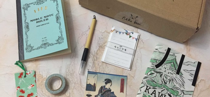 Neko Box January 2017 Subscription Box Review & Coupon