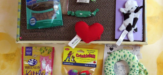 Purr-Packs February 2017 Subscription Review & Coupon – Fun and Love Size!