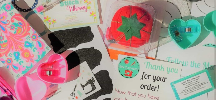 Sew Surprised Subscription Box Review & Coupon – January 2017