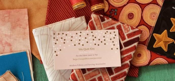 We Quilt Kit Mini Subscription Box Review & Coupon – March 2017