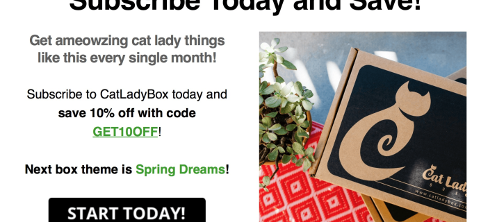 Cat Lady Box March 2017 Theme Spoiler & Coupon!