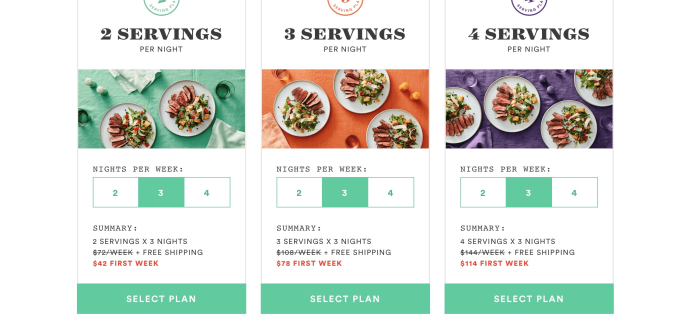 Plated 4-Serving Plans Now Available + $30 Coupon!