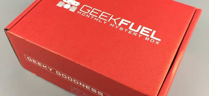 Geek Fuel March 2017 Subscription Box Review + Coupon!