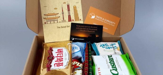Taste & Curiosity February 2017 Subscription Box Review + Coupon – Korea Box