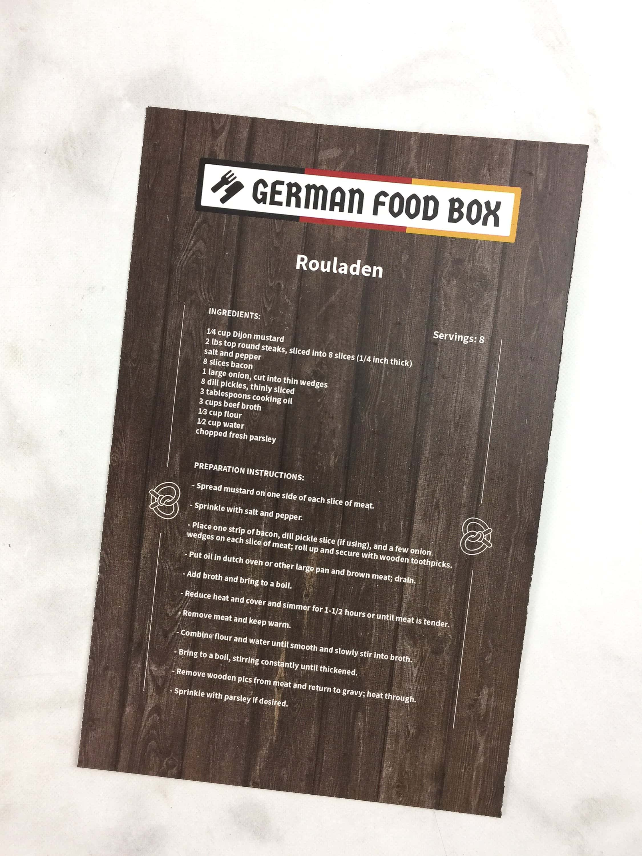 german food box march 2017 subscription box review coupon