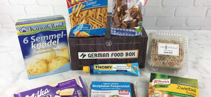 German Food Box March 2017 Subscription Box Review + Coupon