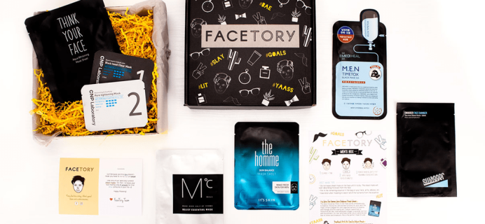 Facetory Men's Limited Edition Box Now Available + Coupon!