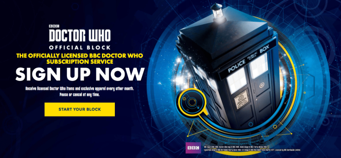 New Nerd Block Subscription: Doctor Who Block!
