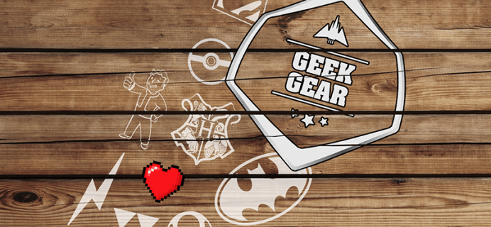 Geek Gear Coupons: Free Goodies With Subscription or 15% Off First Box!