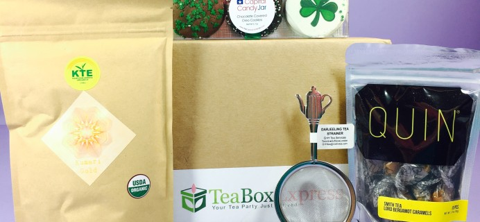 Tea Box Express March 2017 Subscription Review & Coupon