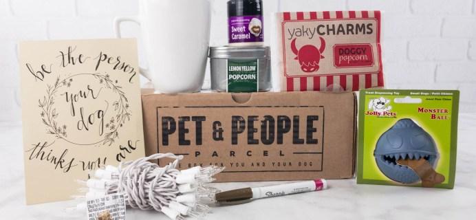 Pet & People Parcel March 2017 Subscription Box Review + Coupon