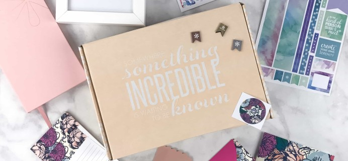 Erin Condren Seasonal Surprise Box Spring 2017 Subscription Box Review