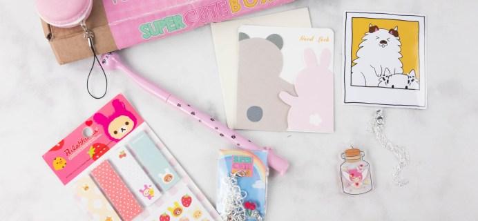Super Cute Box March 2017 Subscription Box Review
