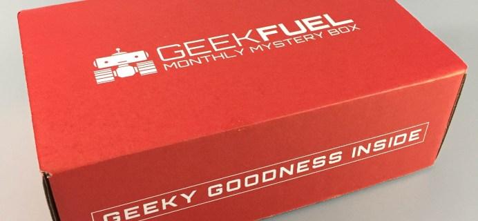 Geek Fuel April 2017 Subscription Box Review + Coupon!