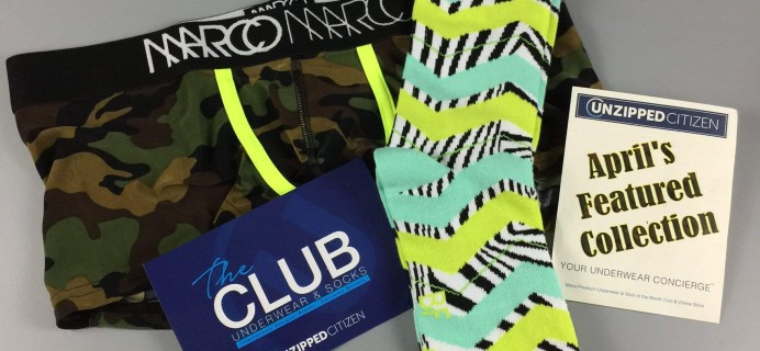 Unzipped Citizen Underwear + Sock Club Subscription Box Review + Coupon – April 2017