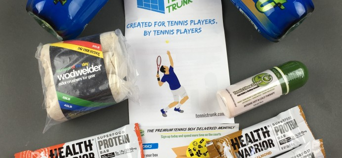 Tennis Trunk March 2017 Subscription Box Review & Coupon