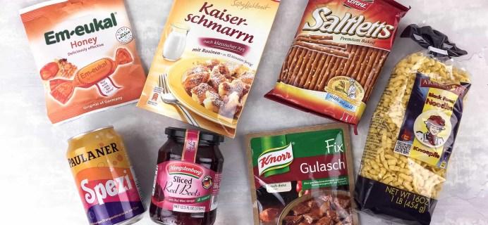 German Food Box April 2017 Subscription Box Review + Coupon