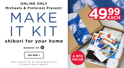 Michaels & Pinterest Make It Kit Vol. 1 Available Now!
