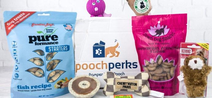 Pooch Perks April 2017 Subscription Box Review + Coupon!