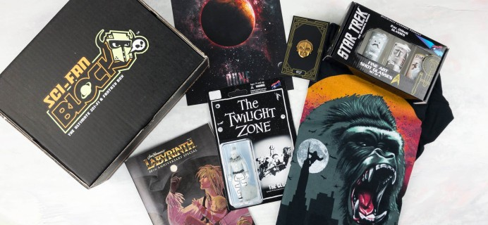 Sci-Fan Block April 2017 Subscription Box Review + Coupon