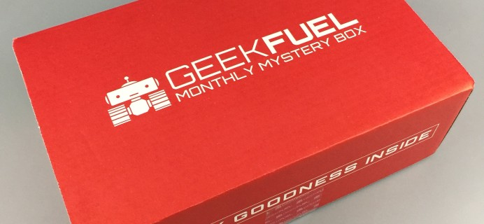 Geek Fuel May 2017 Subscription Box Review + Coupon!