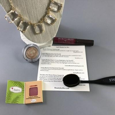 Beauty Joy Subscription Box April 2017 Review & Coupon