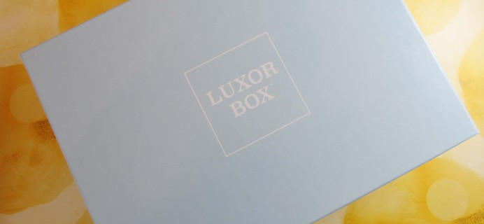 Luxor Box May 2017 Subscription Box Review